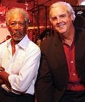 Morgan Freeman and Bill Luckett (Delta Blues Museum)
