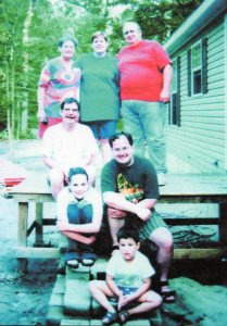 Betts, Judy and Jay, Rick, and a selection of grandchildren and great grandchildren